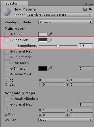Unity - Manual: Specular Mode: Specular Parameter